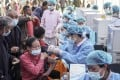Older Chinese people may be in line to receive a third injection. Photo: AFP