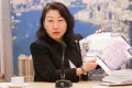 Secretary for Justice Teresa Cheng meets the press on Tuesday after her trip to Beijing. Photo: May Tse
