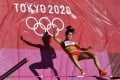China's Zheng Ninali competes in the heptathlon high jump during the Tokyo 2020 Olympic Games at the Olympic Stadium. Zheng is China's first naturalised Olympian. Photo: AFP