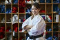 Grace Lau Mo-sheung poses at the Karate Hall in the Sports Institute. Photo: Edmond So