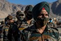 Indian soldiers in formation in the Ladakh region. Photo: Reuters