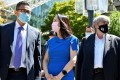 Huawei Technologies executive Meng Wanzhou leaving a court hearing during a lunch break in Vancouver, British Columbia, on Wednesday. Photo: Reuters