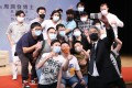 Chow Yun-fat with students at Baptist University on Saturday. Photo: Handout