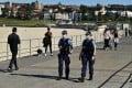 NSW police on patrol at Bondi Beach in Sydney. Photo: EPA