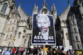 Supporters rally in support of Wikileaks founder Julian Assange in London. Photo: AFP