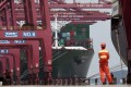 China's Ningbo-Zhoushan Port has closed one of its terminals indefinitely after a vaccinated worker tested positive for the coronavirus. Photo: Reuters