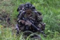 A Japanese soldier trains during a joint military drill with French and US forces. Photo: Reuters