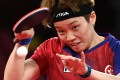 Hong Kong's Doo Hoi-kem competes against Japan's Mima Ito during their women's team semi-final table tennis match at the Tokyo Metropolitan Gymnasium during the Tokyo 2020 Olympic Games. Photo: AFP