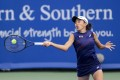 Zhang Shuai of China in action against Marie Bouzkova of the Czech Republic during the Western and Southern Open tennis tournament at Lindner Family Tennis Center. Photo: USA Today