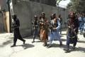 Taliban fighters patrol in Wazir Akbar Khan neighbourhood in Kabul on Wednesday. Photo: AP