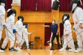 Pupils during a fencing session at Po Leung Kuk Riverain Primary School. Photo: Felix Wong