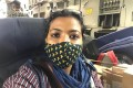 Journalist Sonia Sarkar on a military plane leaving Afghanistan, along with 120 other Indian citizens being evacuated from the country. Photo: Sonia Sarkar