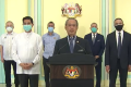Malaysia's embattled Prime Minister Muhyiddin Yassin gives a televised address in which he offered sweeping concessions to the opposition. Photo: Facebook