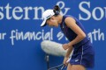 Zhang Shuai advanced to the quarter-finals of the Cleveland Open in Ohio on Wednesday. Photo: USA Today