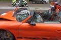 The luxury sports car's windscreen was ripped away by the force of the impact.Photo: Handout