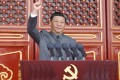 """Chinese President Xi Jinping, pictured here on July 1, said in a meeting on Monday that the government's campaign against tech giants to address """"barbarous growth"""" has shown early results. Photo: Xinhua"""