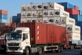 Prices of dry-freight shipping containers have doubled over the past year to reach historic highs, according to a Drewry report. Photo: Reuters