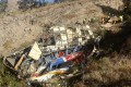 The wreckage of a bus that crashed en route to Lima, Peru on Tuesday. Photo: EPA-EFE