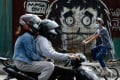 A mural reminding people to wear masks in Caloocan City, Metro Manila, Philippines. Photo: Reuters
