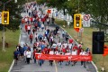 Supporters of Michael Kovrig and Michael Spavor during a protest in Ottawa, Ontario, Canada on Sunday. Photo: Reuters