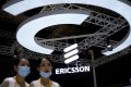 An Ericsson sign is seen at the third China International Import Expo (CIIE) in Shanghai, China, on November 5, 2020. Photo: Reuters