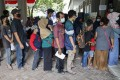 Indonesians queue for Covid-19 vaccinations. The region's biggest economy is focused on the long game in dealing with the pandemic. Photo: EPA-EFE