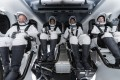 The four passengers are supposed to embody the opening-up of space to everyone, giving the mission its name: Inspiration4. Photo: SpaceX