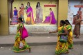 Women in saris in Tamil Nadu, which has just granted workers the right to sit. Photo: Getty Images