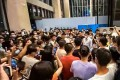 Investors, including Evergrande's employees, protested outside the group's Shenzhen headquarters on September 13, 2021 to demand for debt repayment. Photo: Weibo
