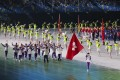 Hong Kong's team arrives as the National Games opens in Xian. Photo: Xinhua