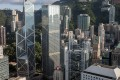 Hong Kong's Central business district, where some of the city's biggest banks are based. Recent cases of delays in the delivery of new properties and the cancellation of presales at an incomplete project could be behind lenders' decision to avoid mortgages for uncompleted flats. Photo: Bloomberg