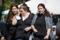 Mourners at the funeral home viewing of Gabby Petito at Moloney's Funeral Home in Holbrook, New York on Sunday. Photo: AP