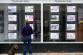 Residential sales listings at an estate agent in Loughborough on Monday, July 5, 2021. Photo: Bloomberg.