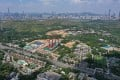 Aerial view of Kwu Tung in the northern New Territories, with Shenzhen in the background. The proposed Northern Metropolis will cover an area of 300 sq km. Photo: Winson Wong