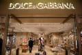 A man walks inside a Dolce & Gabbana shop in Beijing on November 22, 2018. Photo: Agence France-Presse