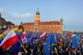 People take part in a rally in support of Poland's membership in the European Union in Warsaw, Poland on Saturday. Photo: Reuters