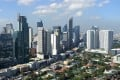 Manila's financial district. Even before the new tax the Pogos were fleeing the Philippines because of Covid-19, which is partially to blame for the rise in the vacancy rates in Metro Manila. Photo: AFP