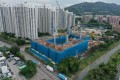 Construction in progress at CK Asset's #Lyos housing project in Hung Shui Kiu as of October 12. Photo: Winson Wong