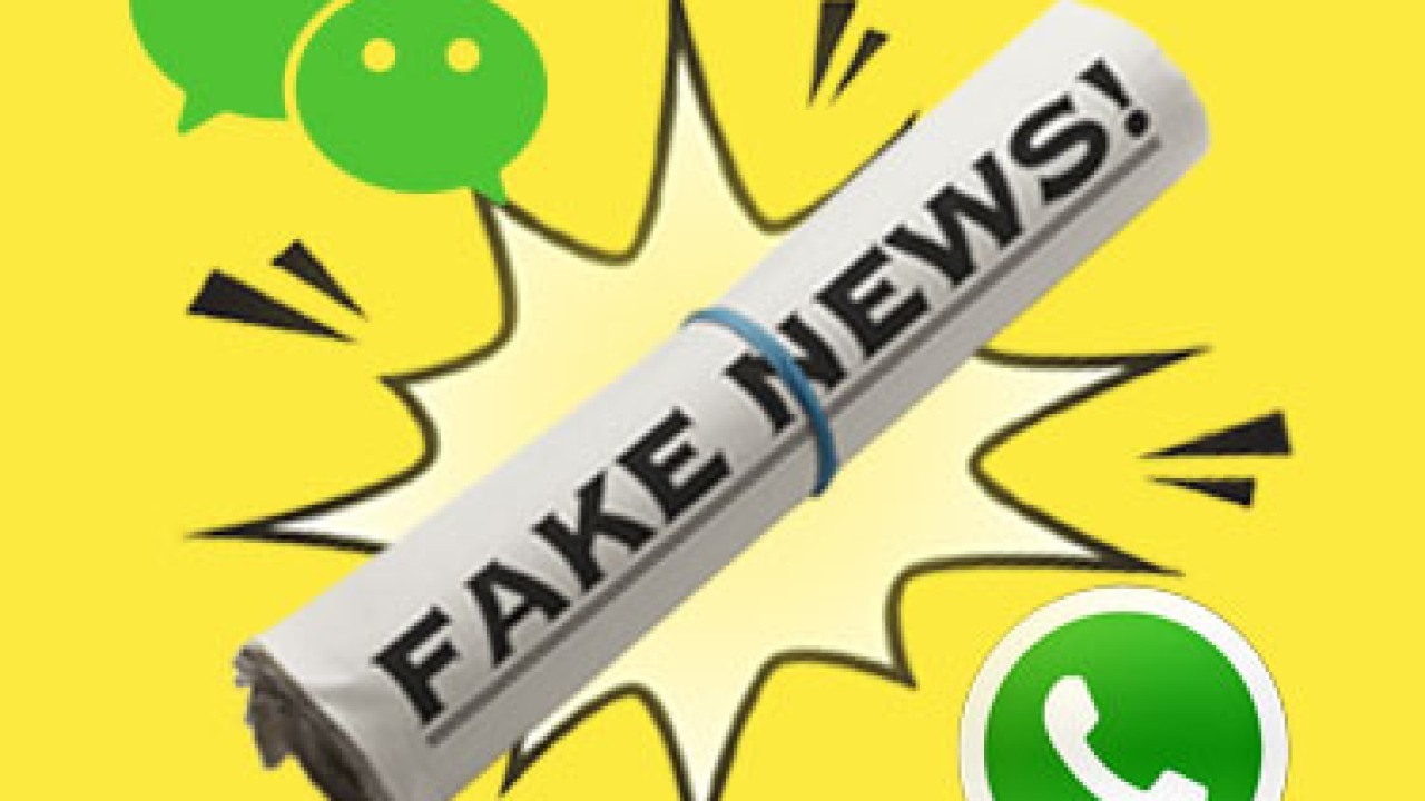 How two of the world's biggest chat apps tackle fake news