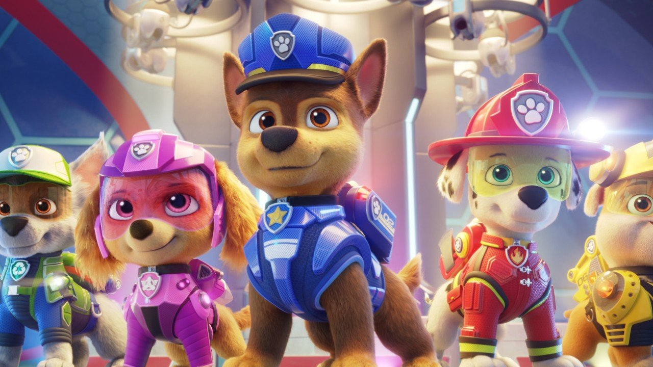 Paw Patrol: The Movie review – puppy pack head for the big city in cute and colourful cartoon feature