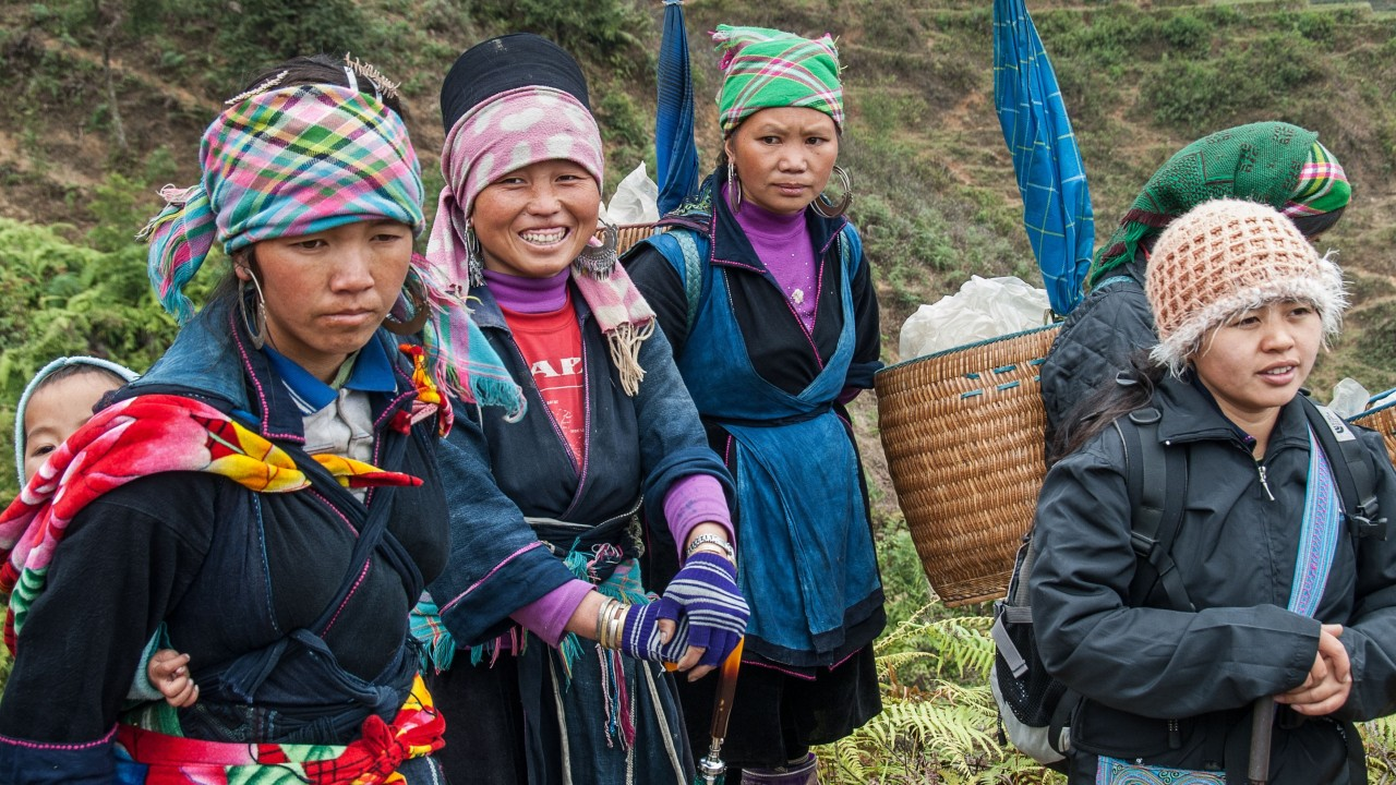 Hiking in Sapa, Vietnam: an easy descent from the hill town into Muong Hoa valley, where time has stood still