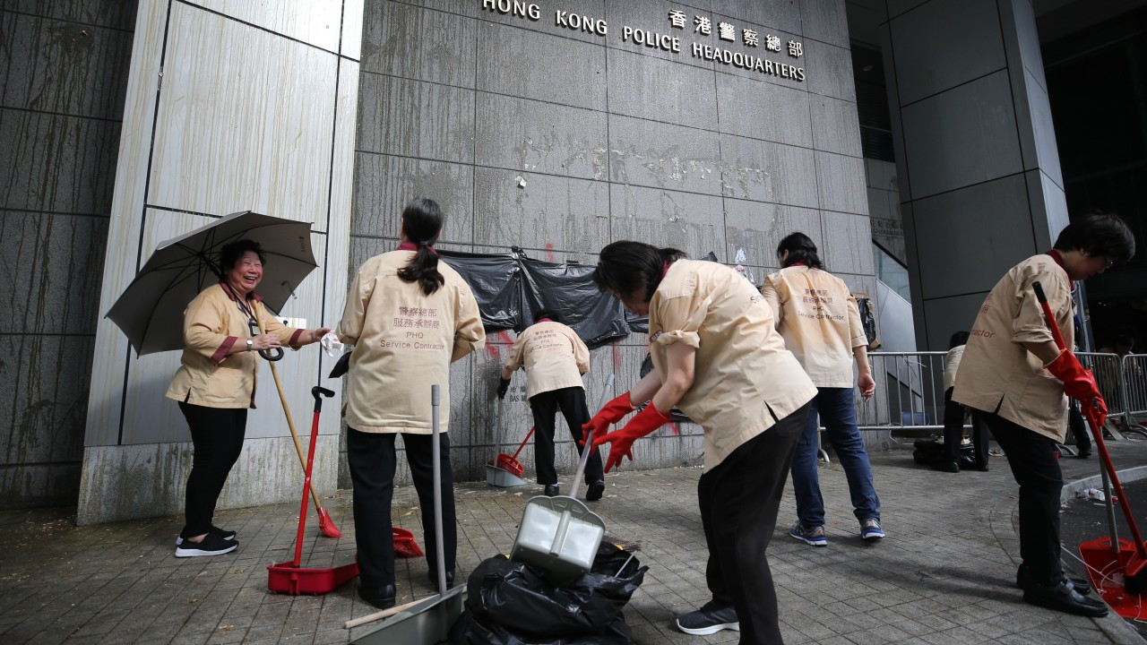 Hong Kong street cleaners' perseverance and diligence amid the protests is humbling