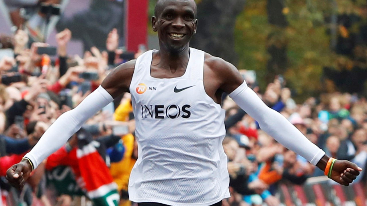 Why Eliud Kipchoge smiles during sub-two hour marathon – the science behind the historic grin