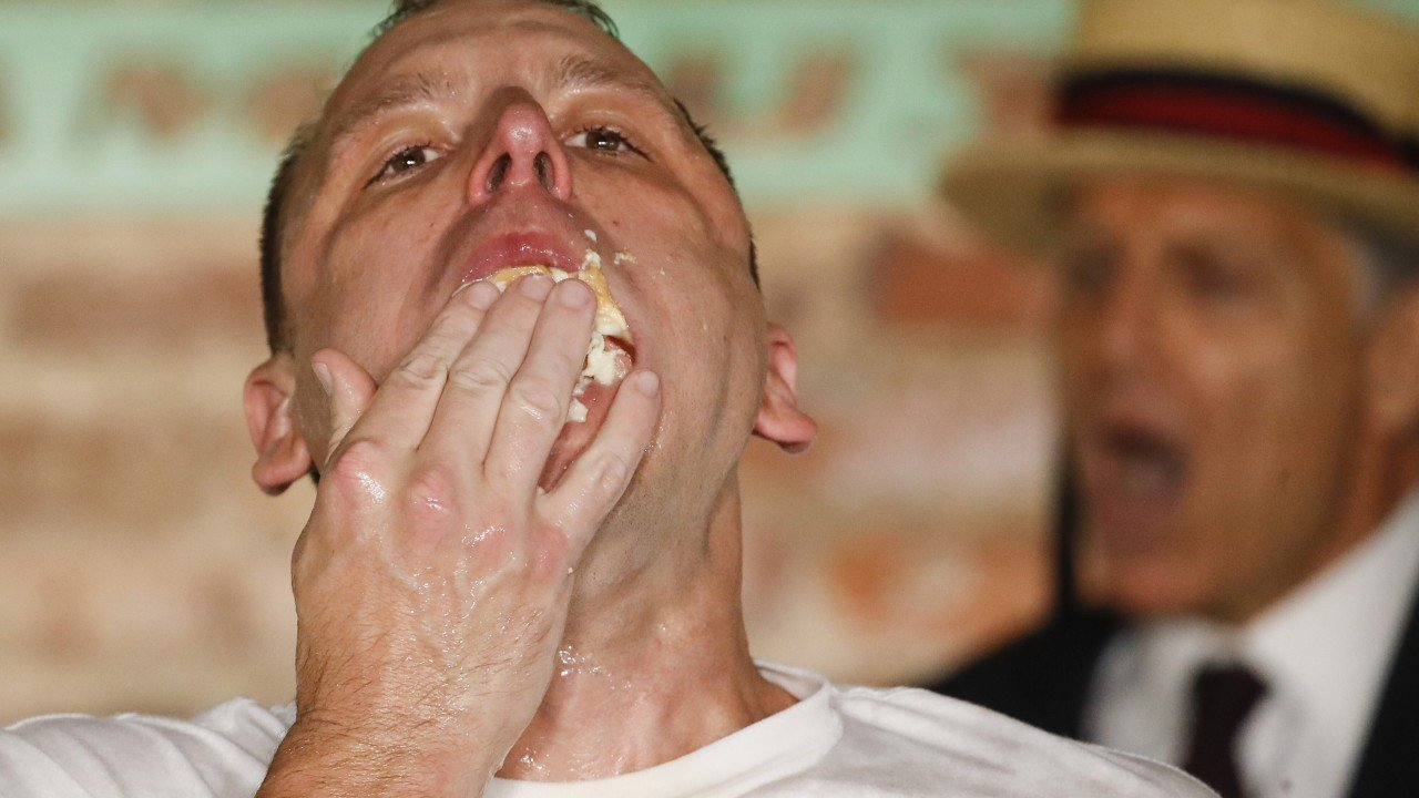 Wiener takes all: Joey Chestnut eats 75 hot dogs in 10 minutes for world record