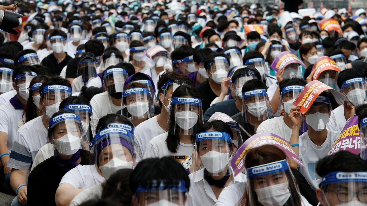 Coronavirus latest: South Korea considers new lockdown after latest spike in cases