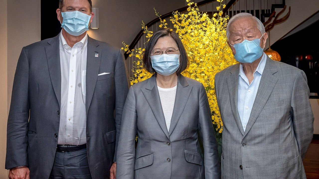 Taiwanese President Tsai Ing-wen vows to bolster island's global supply chain in semiconductors