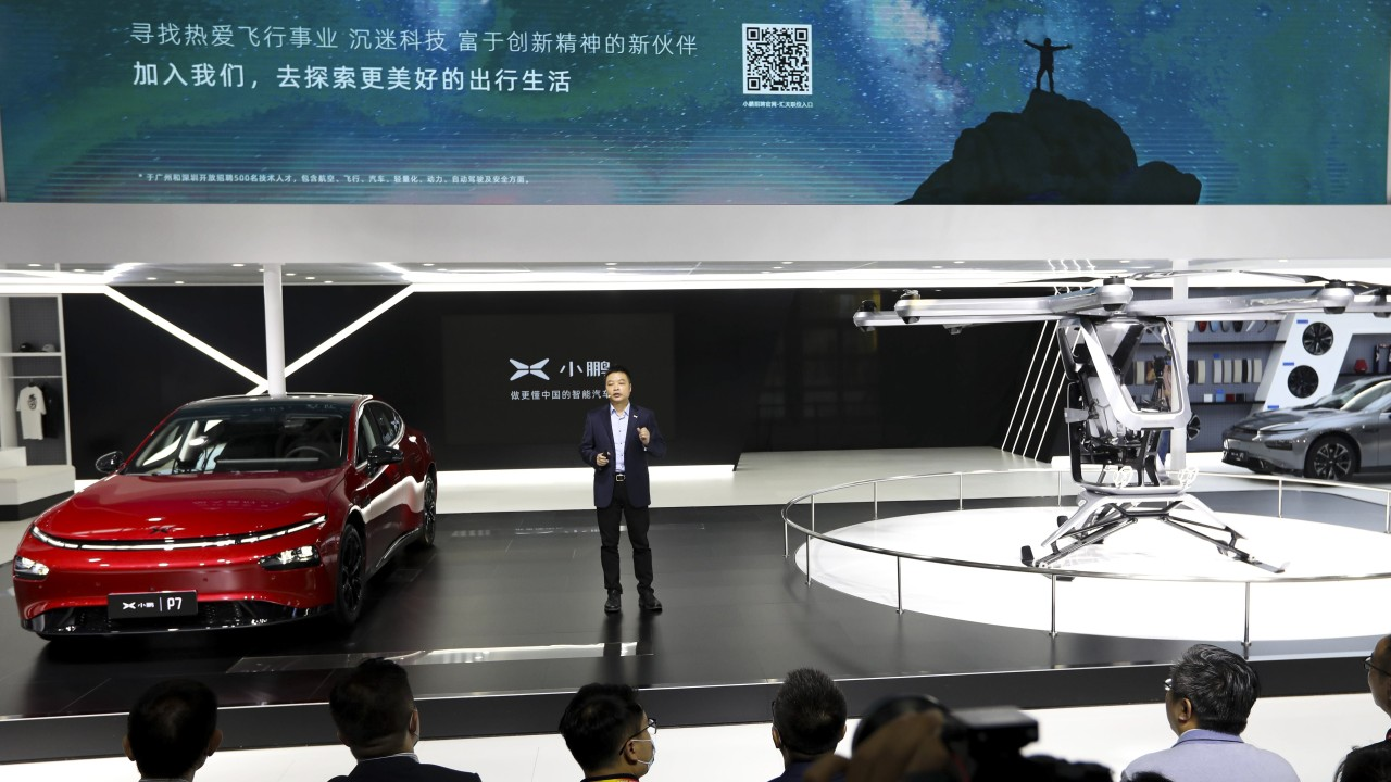 China's Xpeng unveils a flying car prototype in its debut at the premier trade show of the world's largest vehicle market