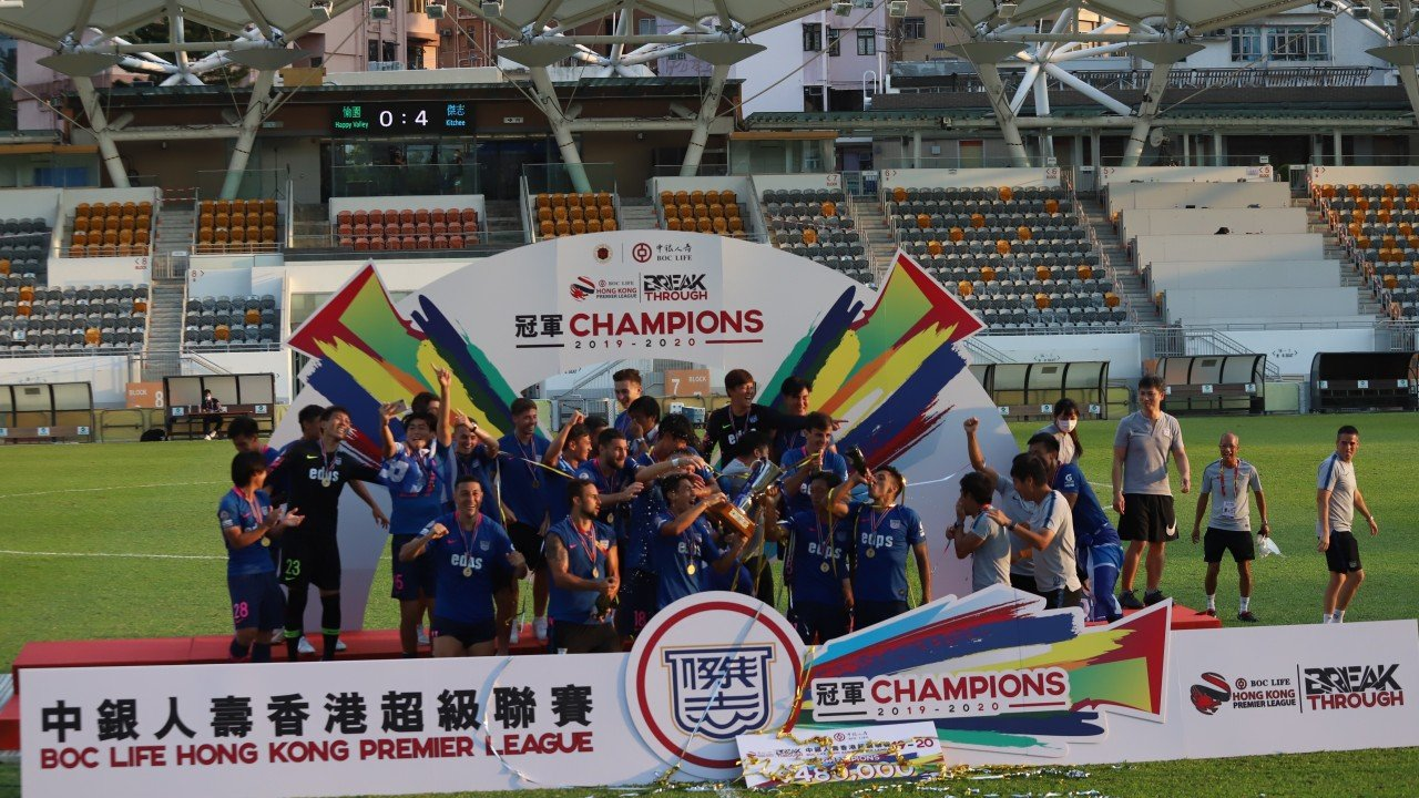 Kitchee crowned Hong Kong Premier League champions after thrashing Happy Valley 4-0 on dramatic final day