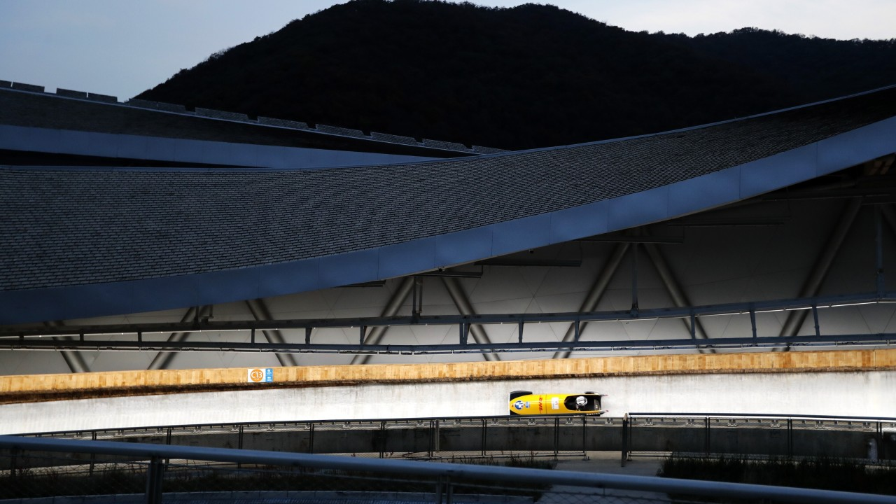 Winter Olympics 2020: Beijing's new skeleton and bobsleigh venue hosts first test event