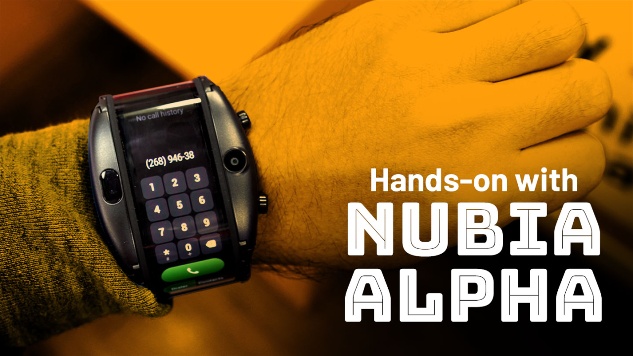 The Nubia Alpha is a smartphone for your wrist